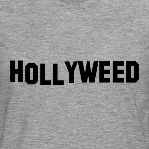 Hollyweed Black - Herre premium T-shirt med lange ærmer