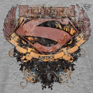 Superman S-Shield Man of Steel Tee shirt manches l