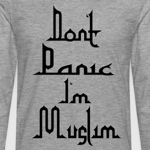 Don t Panic in Muslim - Men's Premium Longsleeve Shirt