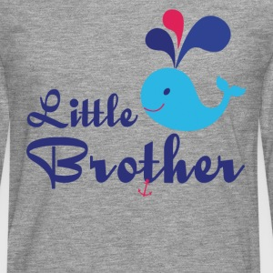 Little Brother. Whale, sea, anchor. Personalise - Men's Premium Longsleeve Shirt