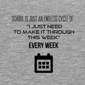 School is an endless cycle of I have to survive - Men's Premium Longsleeve Shirt