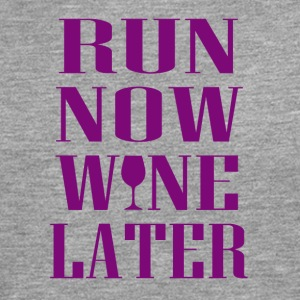 Run now Wine later - Männer Premium Langarmshirt