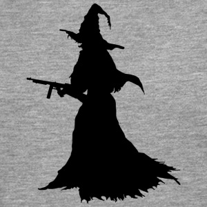 Witch with Assault Rifle / AK for Halloween - Men's Premium Longsleeve Shirt