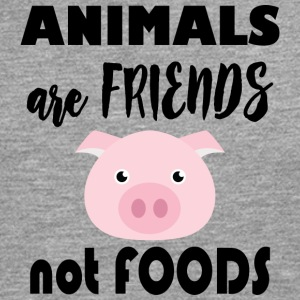 Animals are friends not food - Men's Premium Longsleeve Shirt