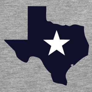 TEXAS State Outline Star - T-shirt manches longues Premium Homme