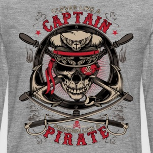 capitaine pirate - T-shirt manches longues Premium Homme