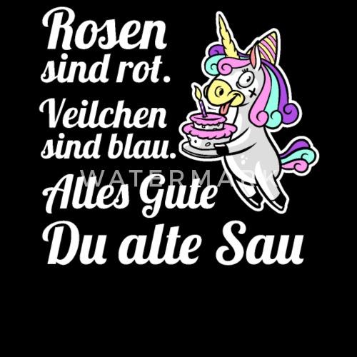 Geburtstag Geschenk Frecher Spruch Einhorn Von Plasma59 Spreadshirt
