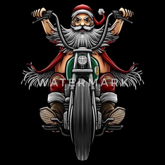 weihnachtsmann santa motorrad biker geschenk m nner. Black Bedroom Furniture Sets. Home Design Ideas