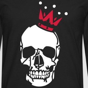 Skull Crown - Premium langermet T-skjorte for menn