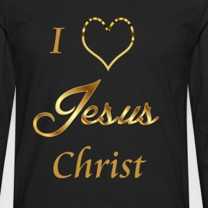 I love Jesus christ - Men's Premium Longsleeve Shirt