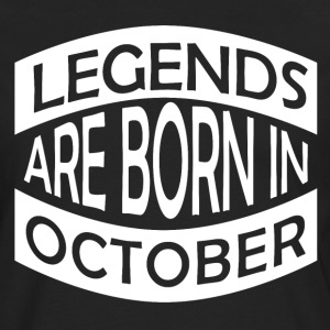 Legends are born in October - Men's Premium Longsleeve Shirt