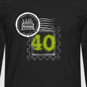 pie 40th birthday gift stamp Post - Men's Premium Longsleeve Shirt