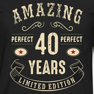 Amazing perfect since 40 years - sandcolor birthday gift rahmenlos