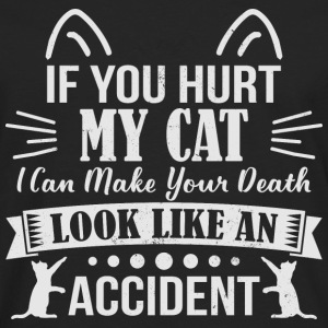 If you Hurt My Cat - cat - Men's Premium Longsleeve Shirt
