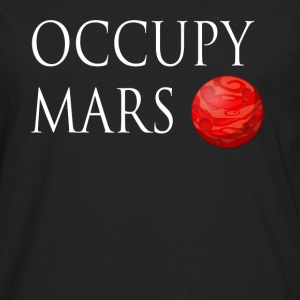 Occupy March Space - Herre premium T-shirt med lange ærmer