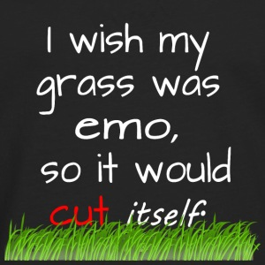 Emo - grass - lawn mowing - Men's Premium Longsleeve Shirt