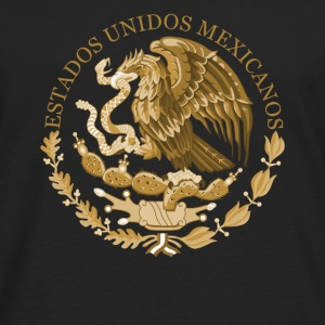 mexico coat of arms bronze - Men's Premium Longsleeve Shirt