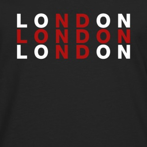 London, Storbritannien Flag Shirt - London t-shirt - Herre premium T-shirt med lange ærmer