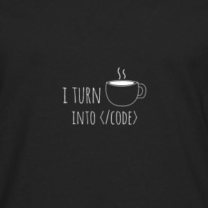 I turn into code - Men's Premium Longsleeve Shirt