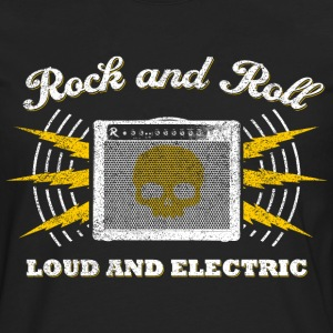 Rock And Roll. Loud and Electric (worn) - Men's Premium Longsleeve Shirt