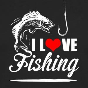 Shop fish bone long sleeve shirts online spreadshirt for Man i love fishing