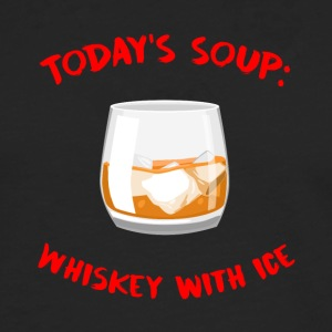 Whiskey - Today´s Soup: Whiskey with Ice - Männer Premium Langarmshirt