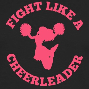 Cheerleader: Fight Like A Cheerleader - Herre premium T-shirt med lange ærmer
