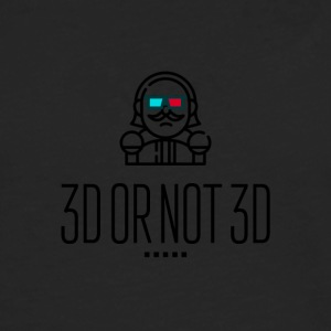 3D or Not 3D - Men's Premium Longsleeve Shirt