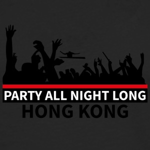 HONG KONG - Party All Night Long - Maglietta Premium a manica lunga da uomo
