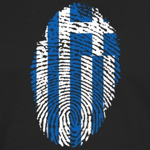 Fingerprint i love roots greece greece - Men's Premium Longsleeve Shirt