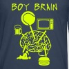 Boy brain tennis TV beer sex - Men's Premium Longsleeve Shirt