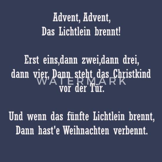 Advent Gedicht Männer Premium Langarmshirt Spreadshirt
