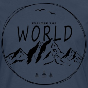 Explore the world - Männer Premium Langarmshirt