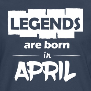 Legends föds i april - Långärmad premium-T-shirt herr