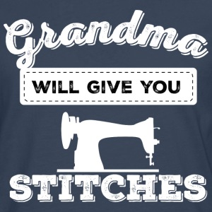 grandma will give you stitches - Men's Premium Longsleeve Shirt