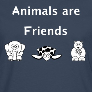 Animals are friends - Men's Premium Longsleeve Shirt