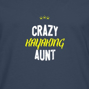 Distressed - CRAZY KAYAKING AUNT - Men's Premium Longsleeve Shirt