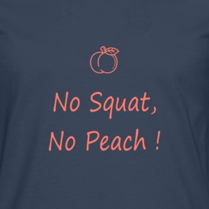 No squatting, no peach coral - Men's Premium Longsleeve Shirt
