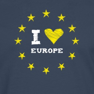 I Love europe Star Heart Stick eu no Proposed referendum on United Kingdom membership of the European Union circle l - Men's Premium Longsleeve Shirt