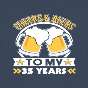 Cheers & Beers 35th birthday - Men's Premium Longsleeve Shirt