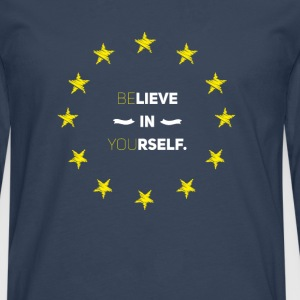 Believe in you eu Love stars stick Euro Euro lo - Men's Premium Longsleeve Shirt