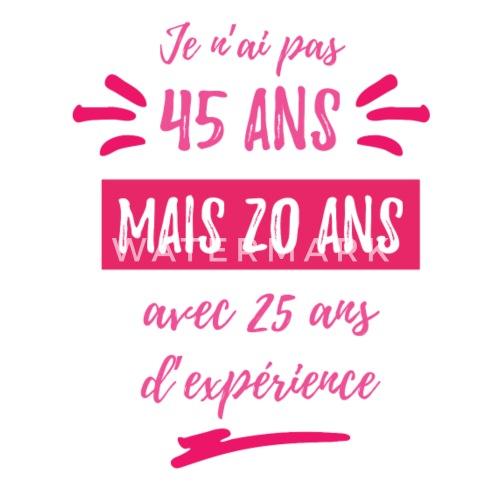 Verjaardag Vrouw 45 Jaar Vrouwen Premium Longsleeve Spreadshirt
