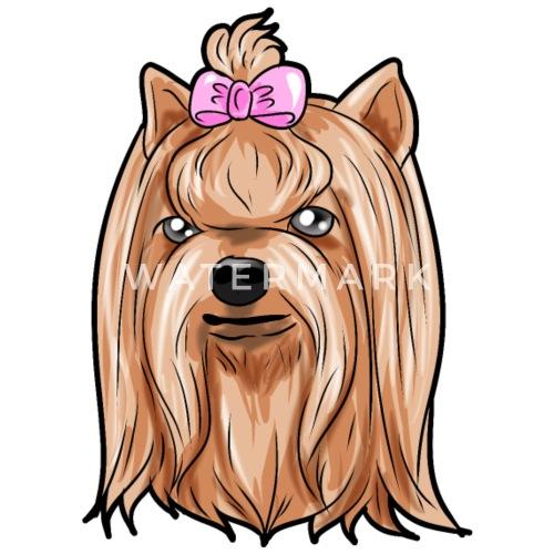 Yorkshire Terrier Hund Hundin Gesicht Geschenk Von Naughty By Nature