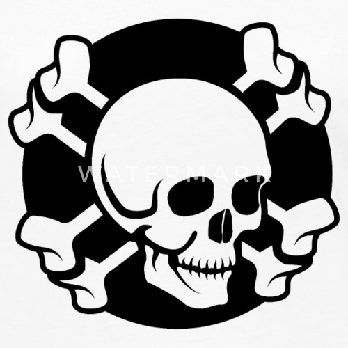gekreuzte Knochen Schädel von Graphikz | Spreadshirt