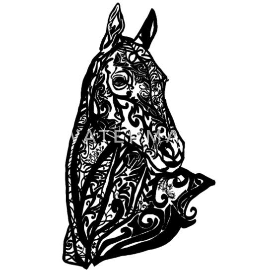 Tribal Tattoo Paard Hoofd Vrouwen Premium Longsleeve