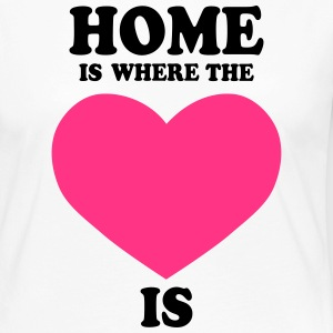 HOME is where the HEART is - Women's Premium Longsleeve Shirt