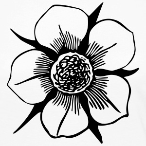 Flower Illustration - Långärmad premium-T-shirt dam