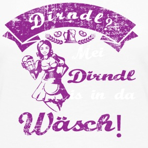 Dirndl is in the wash the Oktoberfest gift - Women's Premium Longsleeve Shirt