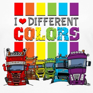 I love 6 different colors trucks - Women's Premium Longsleeve Shirt