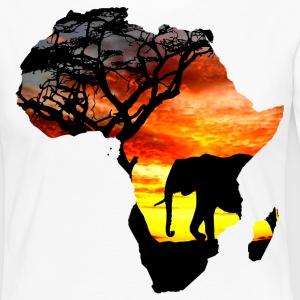 Africa love card - Women's Premium Longsleeve Shirt